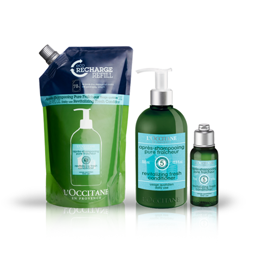 Aromachologie Revitalising Fresh Conditioner Eco-refill Bundle