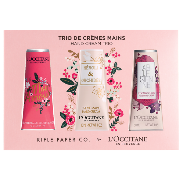 Rifle Paper Co. x L'OCCCITANE Hand Cream Trio