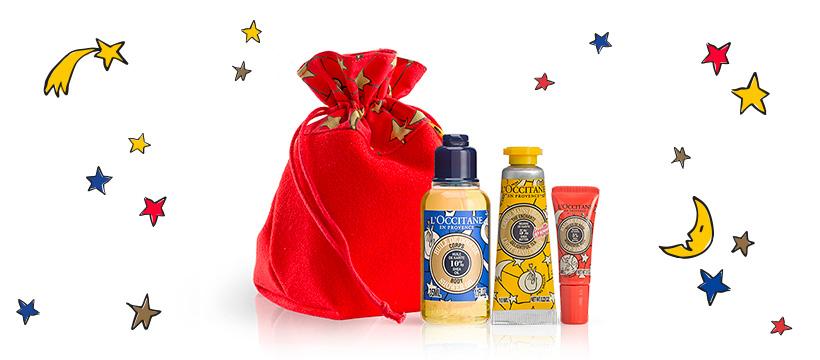 Code promo Offre de bienvenue Noël : une trousse généreuse offerte