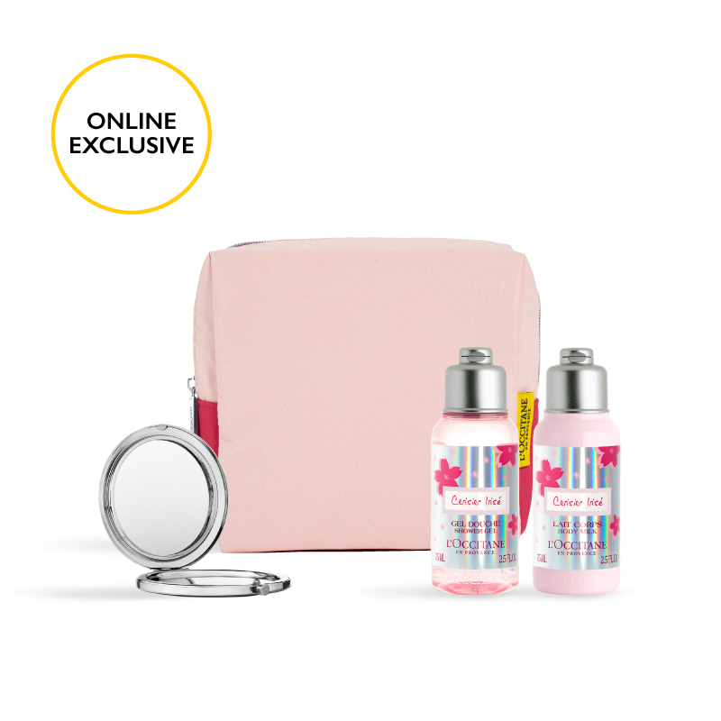 Online Exclusive! - Cherry Blossom Cerisier Irisé Travel Set