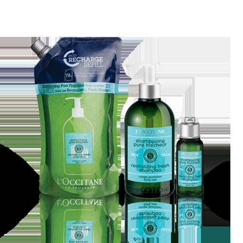 Aromachologie Revitalising Fresh Shampoo Eco-refill Bundle