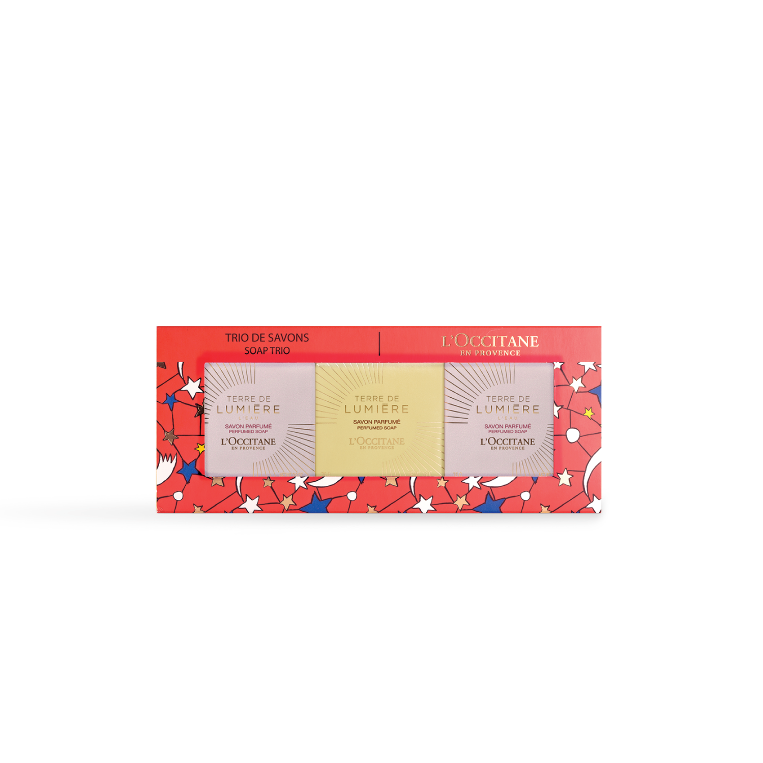 Xmas Flowery Soap Trio Set