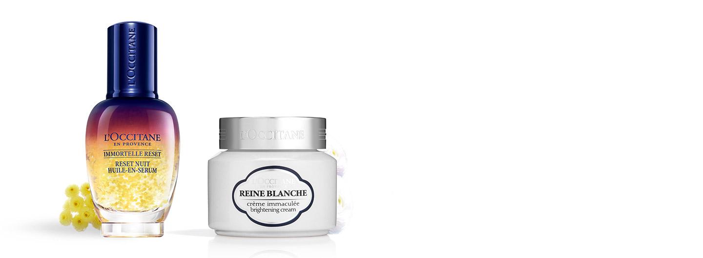 Reine Blanche Overnight Reset Duo - L'Occitane