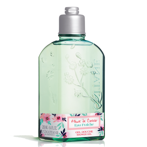 L'Occitane limited edition shower gel. Gently cleanses and perfumes the skin.