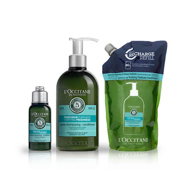 Aromachologie Purifying Fresh Conditioner Eco-Refill Bundle