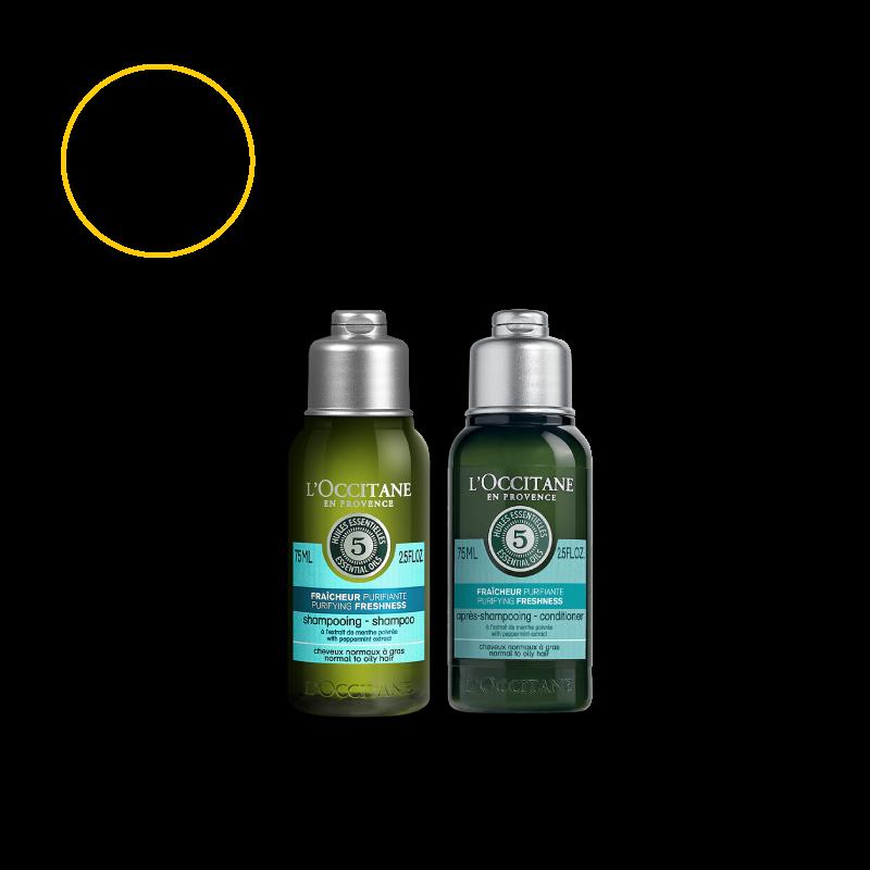 Purifying Freshness Hair Care Travel Set
