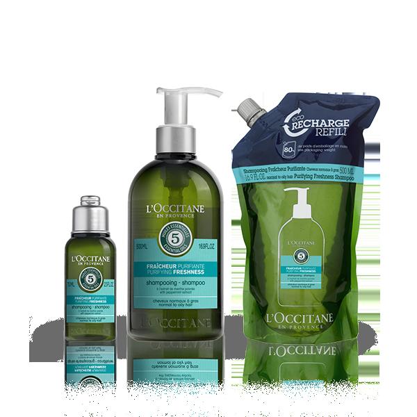 Aromachologie Purifying Fresh Shampoo Eco-Refill Bundle
