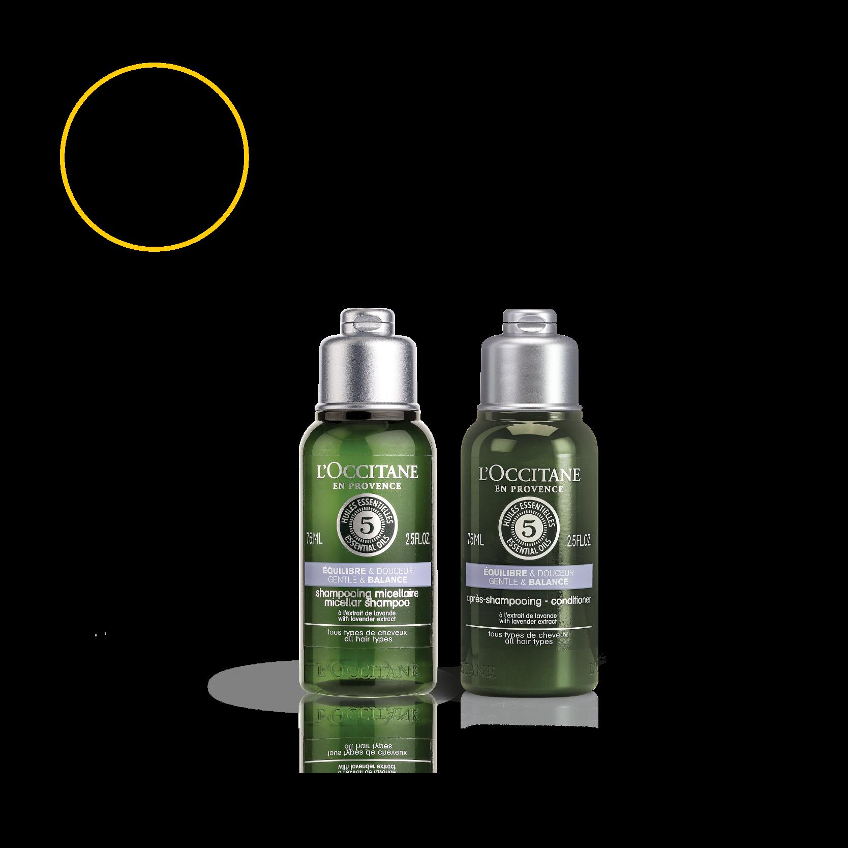 Gentle & Balance Hair Care Travel Set
