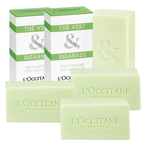 Thé Vert & Bigarade Perfumed Soap Quartet