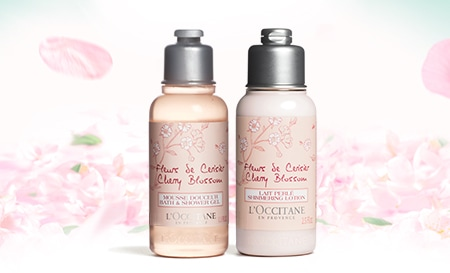 Be the first to know our special offers and get a gift with your first purchase! Your gift: cherry blossom duo with a purchase of 15 € or more.