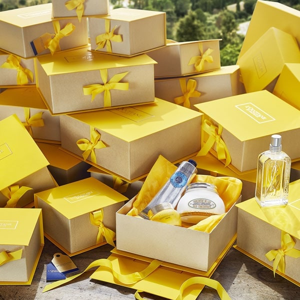 L'Occitane gifts wrapping