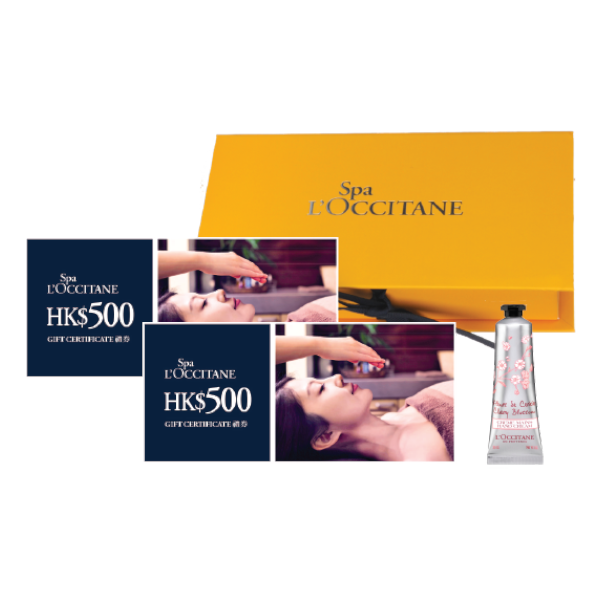 Spa L'OCCITANE HK$1000現金禮券連禮盒