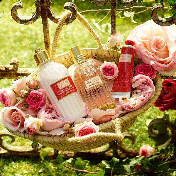 Ķermeņa kopšanas produkti ar rozes esenci