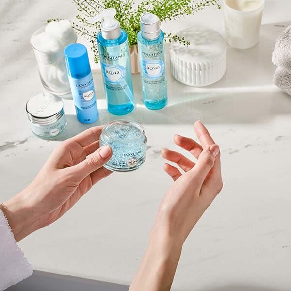 Aqua Réotier sejas kopšanas līdzekļi ādas mitrināšanai