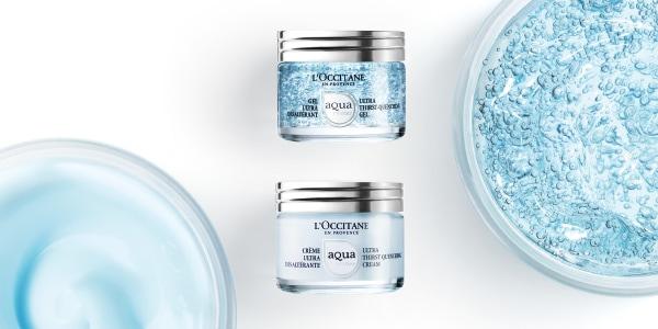 Aqua Reotier sejas gēls un krēms ādas mitrināšanai ar Provansas Réotier avota minerālu spēku