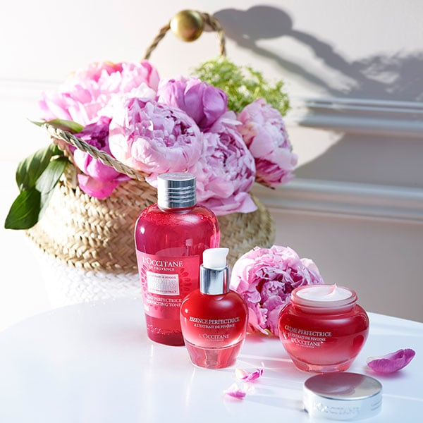 PEONY FACE CARE COLLECTION - The skin radiates beauty - l'Occitane
