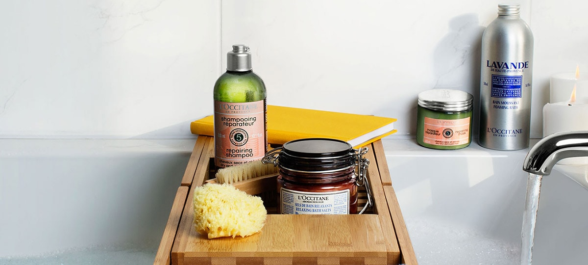 Spa day at home - l'Occitane