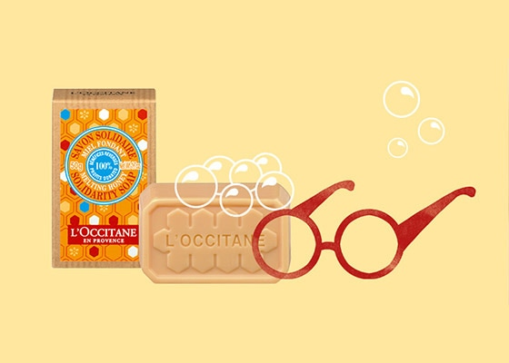 L'OCCITANE CARES ABOUT SIGHT - 1 Shea & Honey soap purchased = 1 pair of glasses financed* - l'Occitane