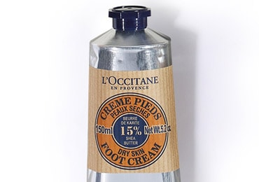 Foot massage - Shea butter foot cream - l'Occitane