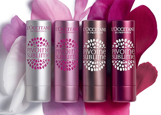PIVOINE SUBLIME - IRRESISTIBLE LIPS - Sublimate your lips with fresh and natural colors - l'Occitane