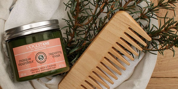 Treated hair color - Aromachology reparing mask - l'Occitane mobile