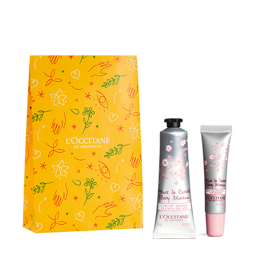 Cherry Blossom Hands and Lips Gift Set