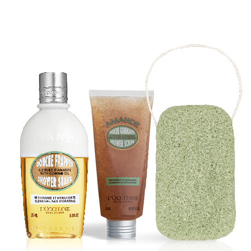Almond Body Washing set with sponge