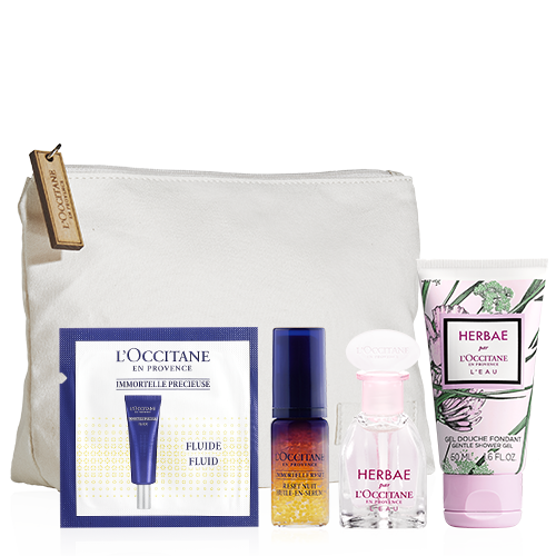 Gift set in cosmetic bag