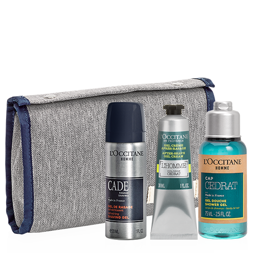 Gift set for men with cosmetic bag