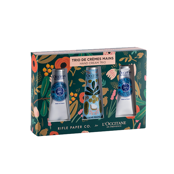 Rifle Paper Co x L'Occitane Shea Holiday Hand Cream Set A