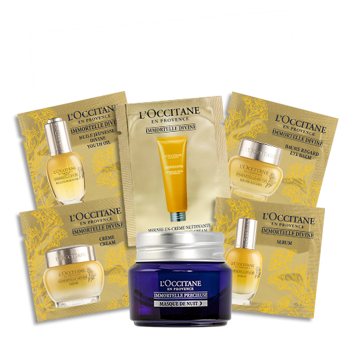 Immortelle precious face kit with night mask