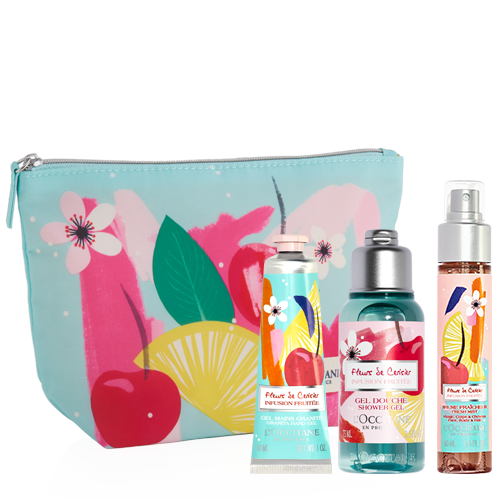 Fleurs De Cerisier Infusion Fruitée kit for body care