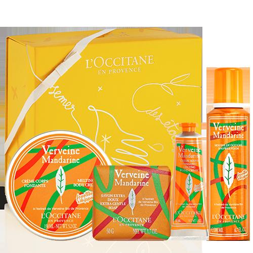 Kūno priežiūros dovana su verbenomis ir mandarinais