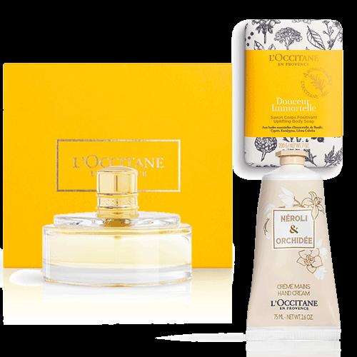 Perfumed set JASMIN-IMMORTELLE-NEROLI