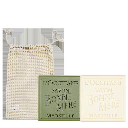 Bonne Mere Soap And Net Set