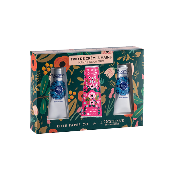 Rifle Paper Co x L'Occitane Shea Holiday Hand Cream Set B