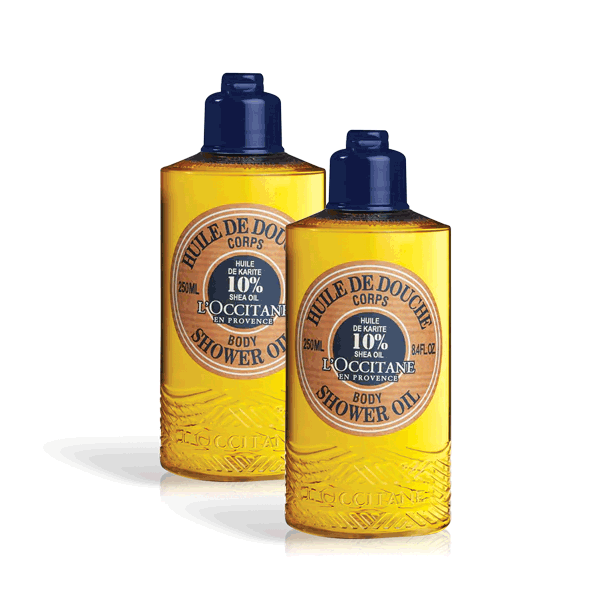 Shea Butter Shower Oil Eco Duo