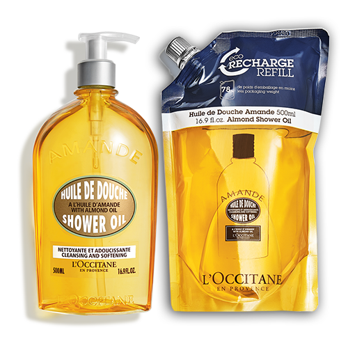Almond Shower Oil 500ml Eco Duo