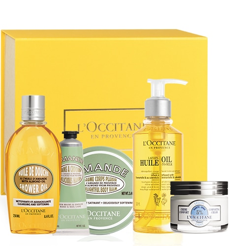 Face care and body care product set \