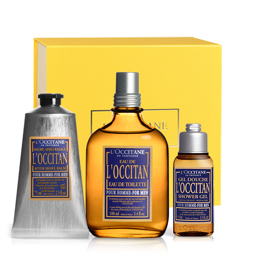 LOccitan Bodycare set with perfume for him