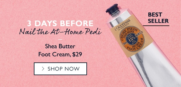 Shea Butter Foot Cream. SHOP NOW.