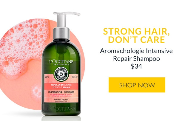Aromachologie Repairing Shampoo. SHOP NOW.