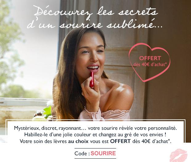 Votre soin des lèvres au choix vous est OFFERT dès 40€ d'achat*.