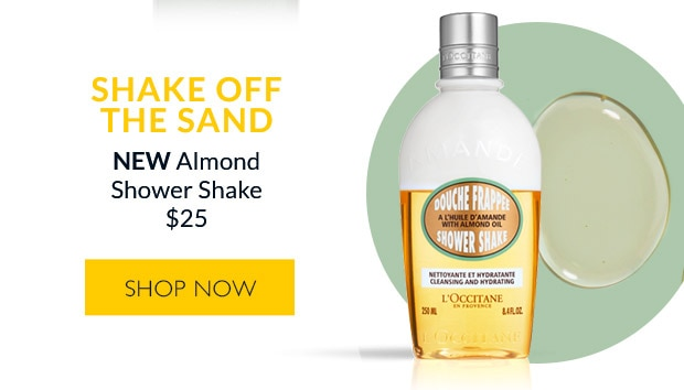 Almond Shower Shake. SHOP NOW.