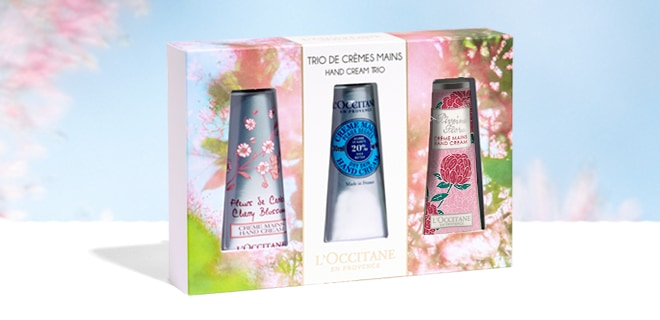 EXCLUSIVE FLORAL HAND CREAM TRIO