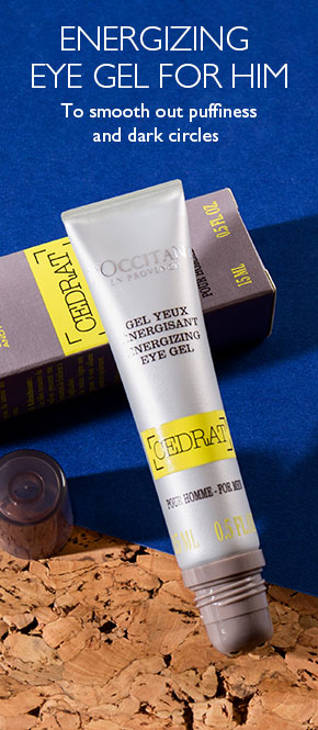 cedrat energizing eye gel to smooth out puffines and dark circles