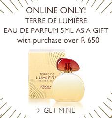 Terre de Lumière Eau de Parfum 5ml as a gift