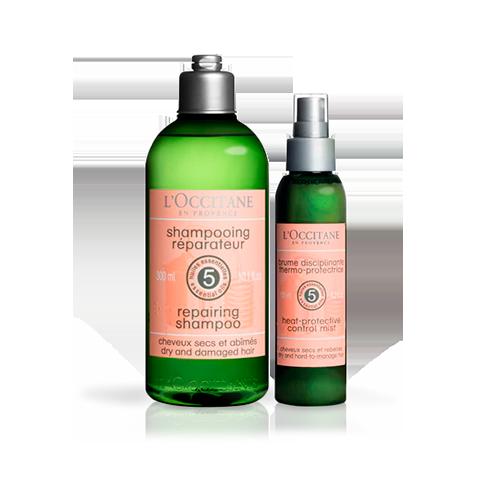 Rotina Shampoo e Termo Protetor Reparação
