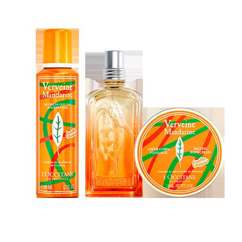 Rotina Trio Cuidados Corporais Verbena Mandarina