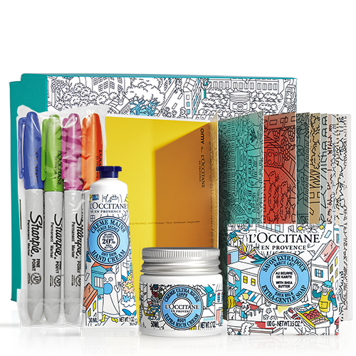 Limited edition sheaf set with coloring postcards